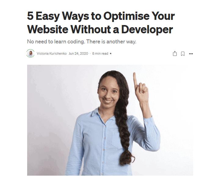 Medium affiliate article example