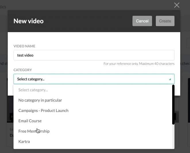 Kartra video categories