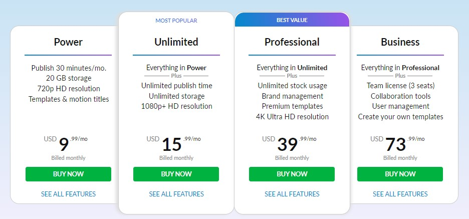wevideo pricing